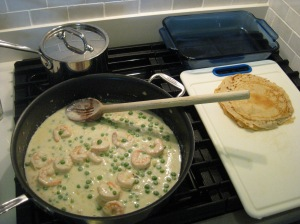 Shrimp Crepes Assembly