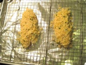 Breaded fish pre oven