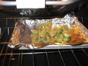 Roasting baby artichokes