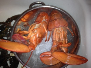 ParBoiled Lobster in Ice Bath