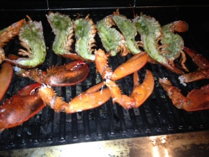 Lobster on the BBQ Grill