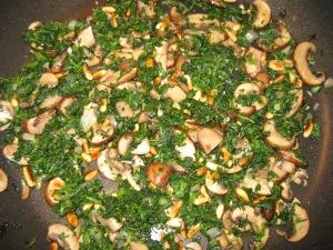 Baby Bella Mushrooms Birds Eye Spinach Saute