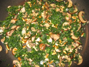 Baby Bella Mushrooms Birds Eye Spinach Saute