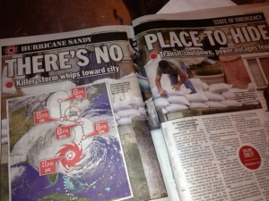 NY Post Hurricane Sandy
