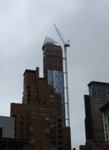 Crane NYC Hurricane Sandy