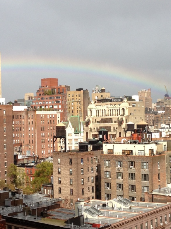 hurricane sandy rainbow uws