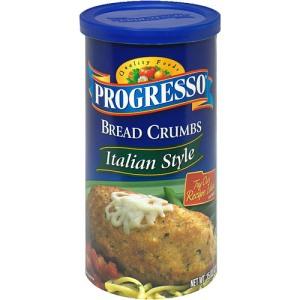 Progresso italian style bread crumbs