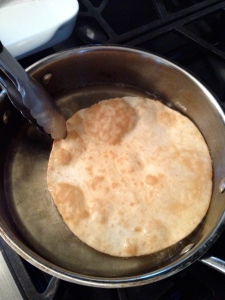 fried flour tortillas for enchiladas