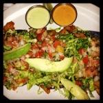 mole fish taco