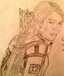 The Hunger Games Katniss drawing