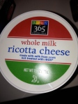 Whole Foods 365 brand ricotta cheese