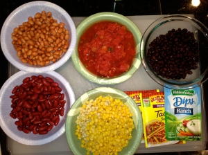 mise en place for taco soup