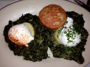 poached eggs at Brennan's new orleans