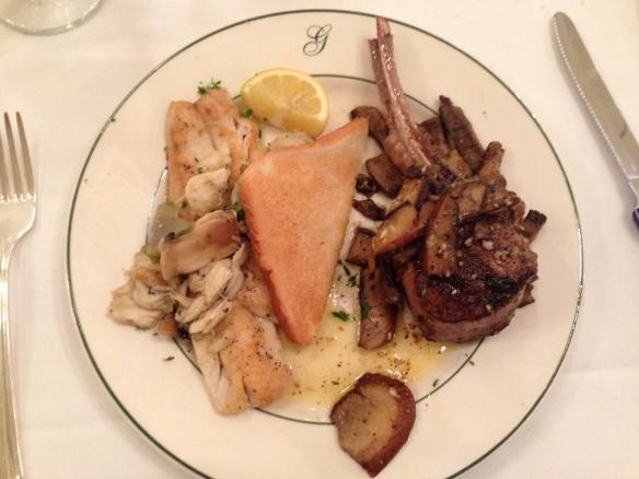 galatoire's lamb chops and redfish