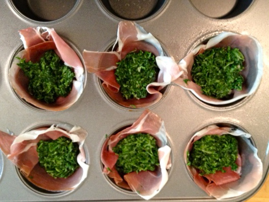 Cream spinach egg cups easter brunch