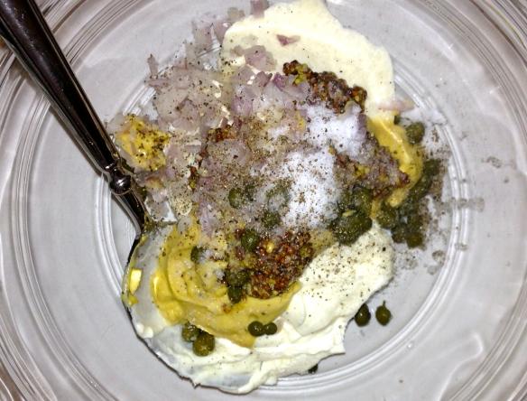 mustard halibut marinade dinner vegetarian food