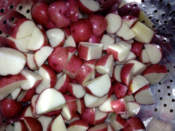 roasted new potatoes dinner vegetarian
