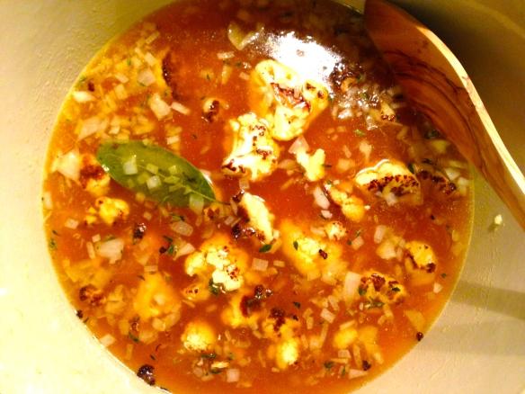 cauliflower soup dinner recipe