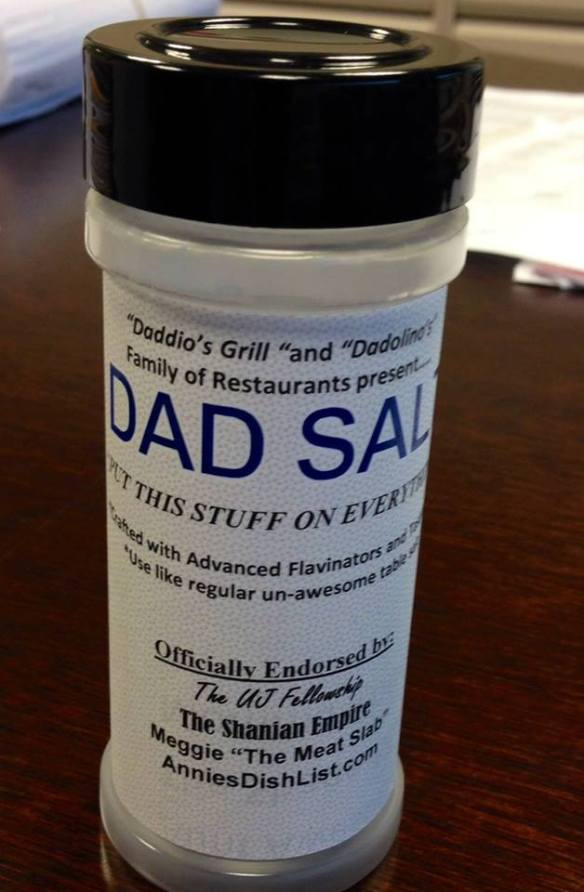 DadSalt is a mix of flavinators and testifiers - a venture to raise funds for EBResearch.org. Contact me for details.