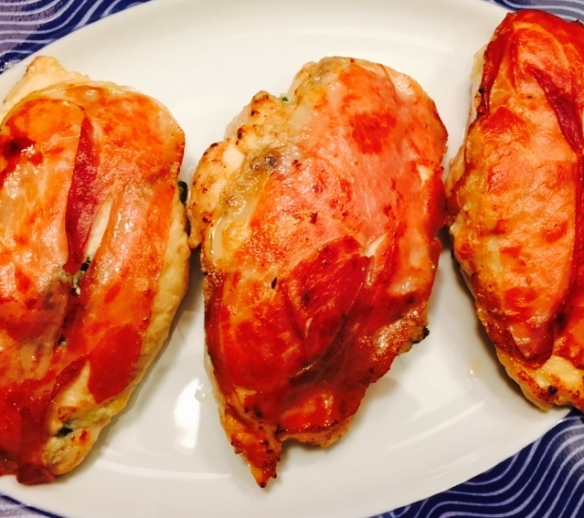 Perfectly stuffed and inflated chicken breast