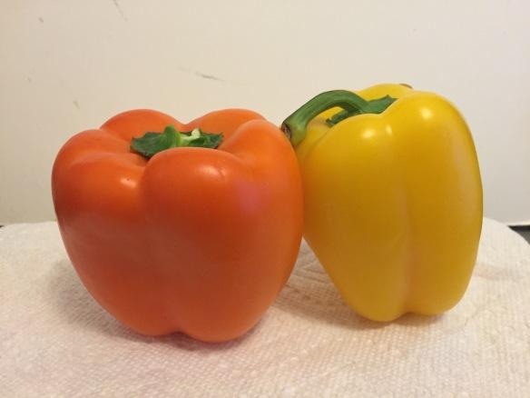 peppers, vegetarian salad, chopped salad