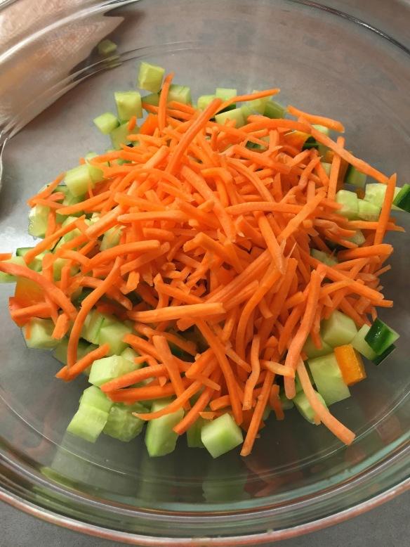 chopped salad, recipe, carrots