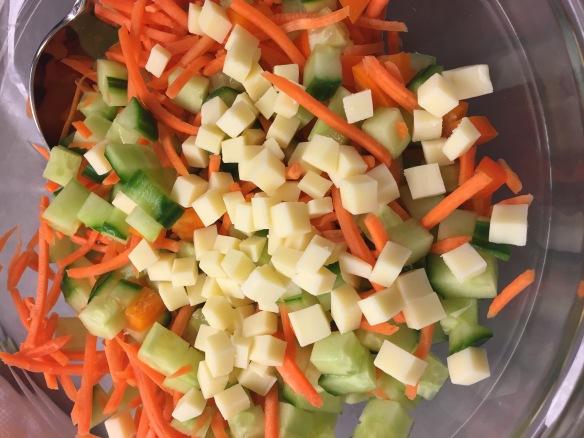 chopped salad recipe, gruyere cheese