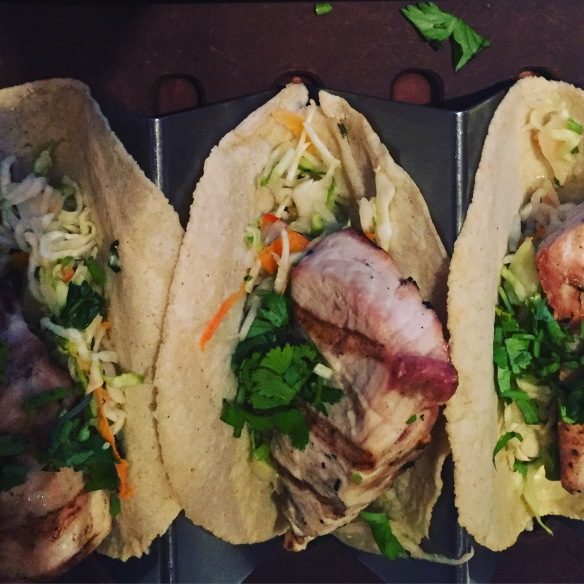 pescatarian. Rosa Mexicano, fish tacos